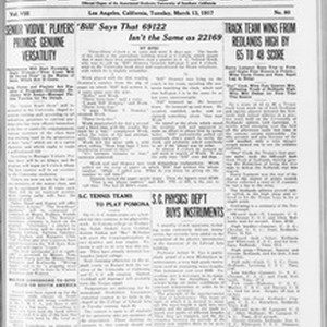 The Southern California Trojan, Vol. 8, No. 80, March 13, 1917