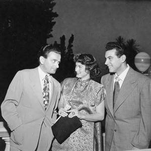 Photograph of Mario Lanza, Kathryn Grayson and Miklos Rozsa