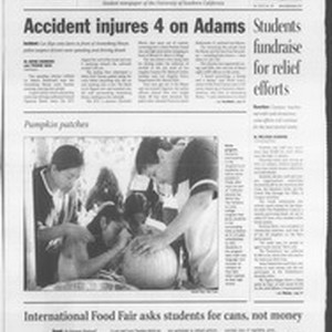 Daily Trojan, Vol. 144, No. 43, October 29, 2001