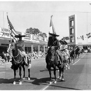 Chicano Horseback Riders on Parade