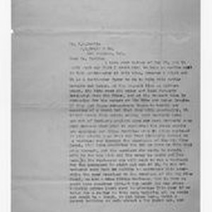 Letter from J. D. Black to Victor H. Tuttle