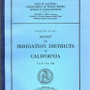 Report on irrigation districts in California for the year 1938