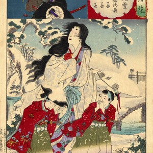 Yamashiro, snow at Fushimi, Lady Tokiwa, Otowaka