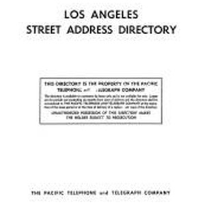 Los Angeles Street Address Directory, 1956, May