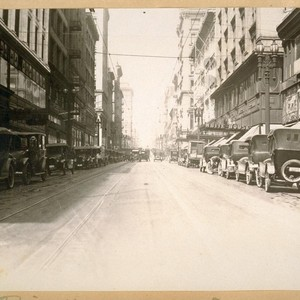 West on Post St. from Kearny St. July 1922