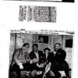 Newpaper clippings, 1944 and 1946