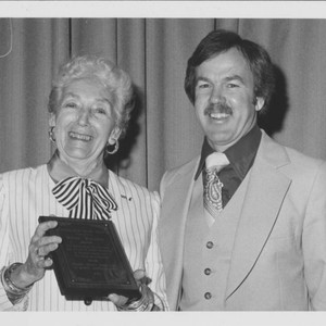 Supervisor Helen Putnam and Wes Crawford, Sonoma County, California, Jan. 17, 1984
