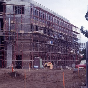 Construction of the Humanities Instructional building.