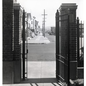 San Francisco General Hospital chest clinic gate facing street, open