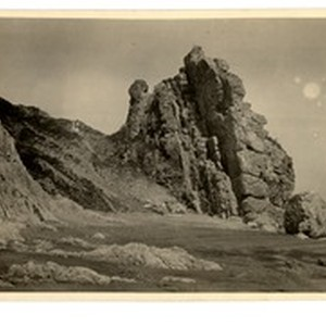 Rock cliff, Beidaihe, China, 1924