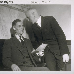 Unidentified man and Thomas G. Plant