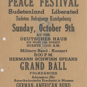 Peace Festival: Sudetenland Liberated