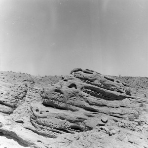 Calcite Mine area small wind-carved cliff in Anza Borrego Desert State Park, ...