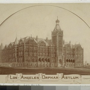 Los Angeles Orphan Asylum. [Photograph by Edouart & Son, Los Angeles. 2 ...