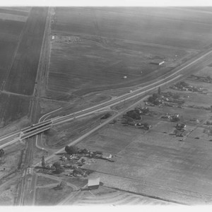 Aerial view of Rohnert Park, California and Highway 101, , 1958