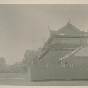 H217. [Chinese Pavilion, right foreground; Pavilion of Bolivia (left) and Swedish Building ...