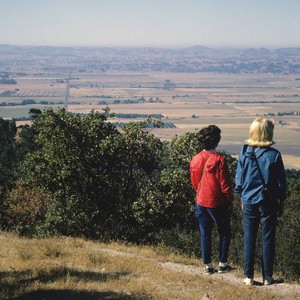 Lorna Skinner and her daughter Betsy Skinner look toward Cotati from Taylor ...