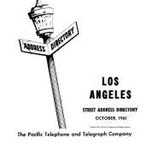 Los Angeles Street Address Directory, 1961, October