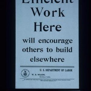 Efficient work here will encourage others to build elsewhere
