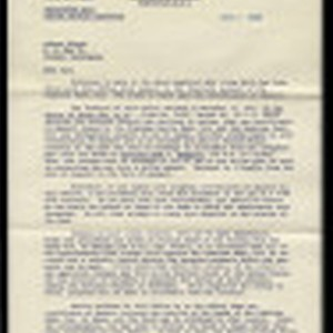 Letter from Arthur R. Schor, Chief, Claims Section, Office of Alien Property, ...