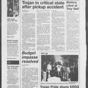 Daily Trojan, Vol. 126, No. 57, November 21, 1995