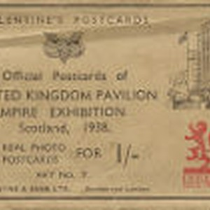 Valentine's Postcard: Official Postcards of United Kingdom Pavilion, Empire Exhibition - 8 ...