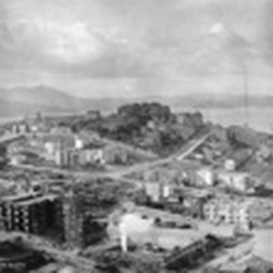 [View of Russian Hill from Nob Hill during reconstruction]