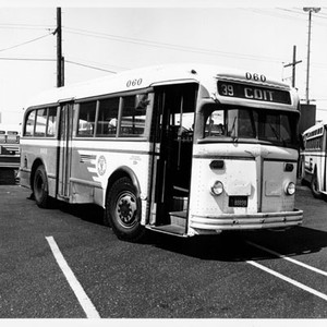 [39 Coit bus in a parking lot with other Muni buses]