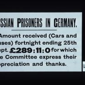 Russian Prisoners in Germany. Amount received (cars and buses) fortnight ending 25th ...