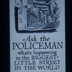 Ask the policeman what's happening in the biggest-little street in the world