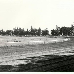 Race track at the Sonoma County fairgrounds, 1955