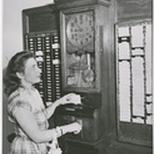[California State Library, time clock]
