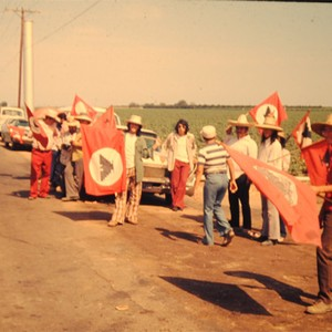 Picket lines during the 1973 Strike