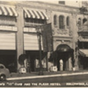 "Clara Bow's ""It"" Club and the Plaza Hotel, Hollywood, Cal., 45"