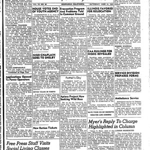Manzanar free press, June 19, 1943