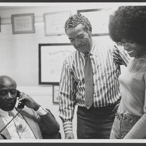 Larry Brown, Melva Piper, and Johnnie Cochran, Sr.,