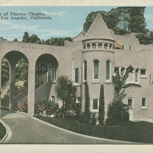 The home of Charles Chaplin, Hollywood, Los Angeles, California