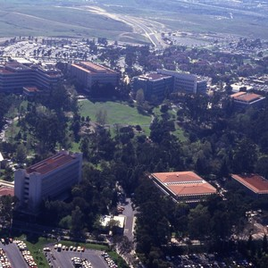 Aerial views of campus.