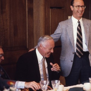 Dan Aldrich and Mr. Gardner at a luncheon meeting.