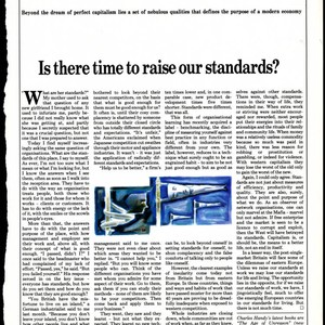 Article by Charles Handy on standards and growth in capitalism
