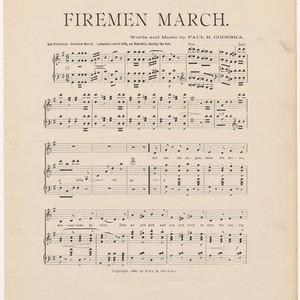Firemen March, by Paul R. Godeska