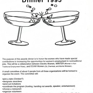 Proposal for Awards Dinner 1995 flyer