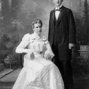 Wedding picture of William and Eugenia Haines