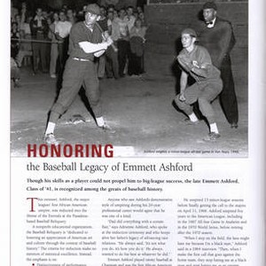Chapman Magazine Article about Emmett Ashford