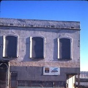 Old Sacramento. View of the Morse Building before restoration on the east ...