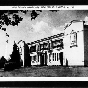 High School-main bldg., Healdsburg, California
