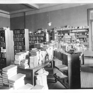 Tulare County Library Work Room, 1924