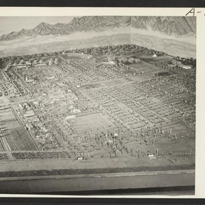New Year's Fair. Model of camp 2, prepared for agricultural exhibit [by] ...