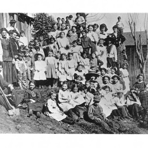 Guerneville Miriam Dist. School, probably March 7, 1910 Bird and Arbor Day, ...