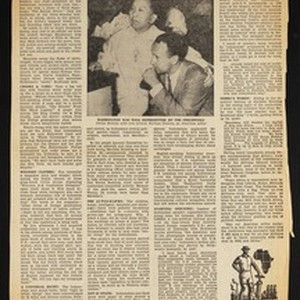 "Eugene Gordon, ""An eye-witness report on Bandoeng"", newspaper clipping, National Guardian, 1955-06-27"